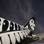 Air New Zealand 787 on Tarmac at Night