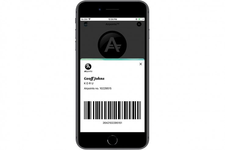 Digital Airpoints™ cards - Retail.