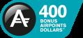 400 bonus Airpoints Dollars™.