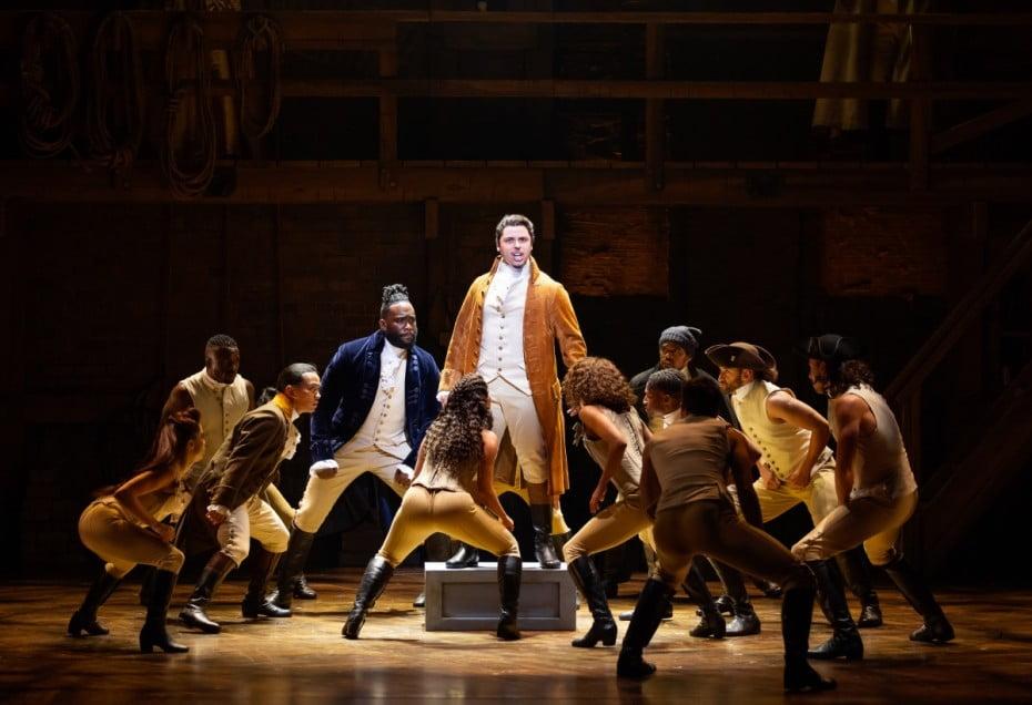 Jason Arrow as Alexander Hamilton in the Australian Production