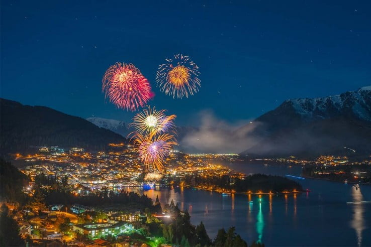 Fireworks at Winter Festival, Queenstown.