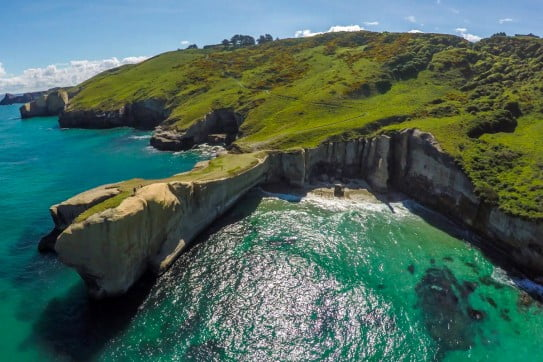 Tunnel beach, Dunedin, New Zealand.