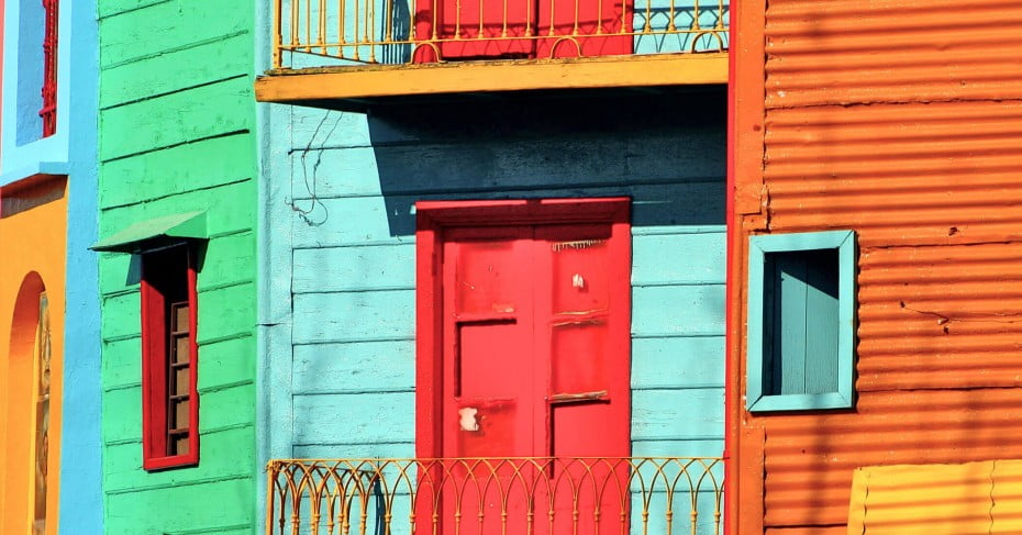 Colourful houses, Buenos Aires, Argentina.