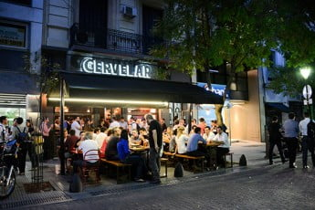 Outdoor evening dining, Buenos Aires, Argentina.