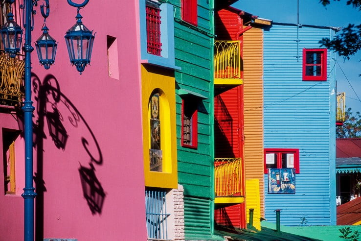 Colourful houses of La Boca, Buenos Aires, Argentina.