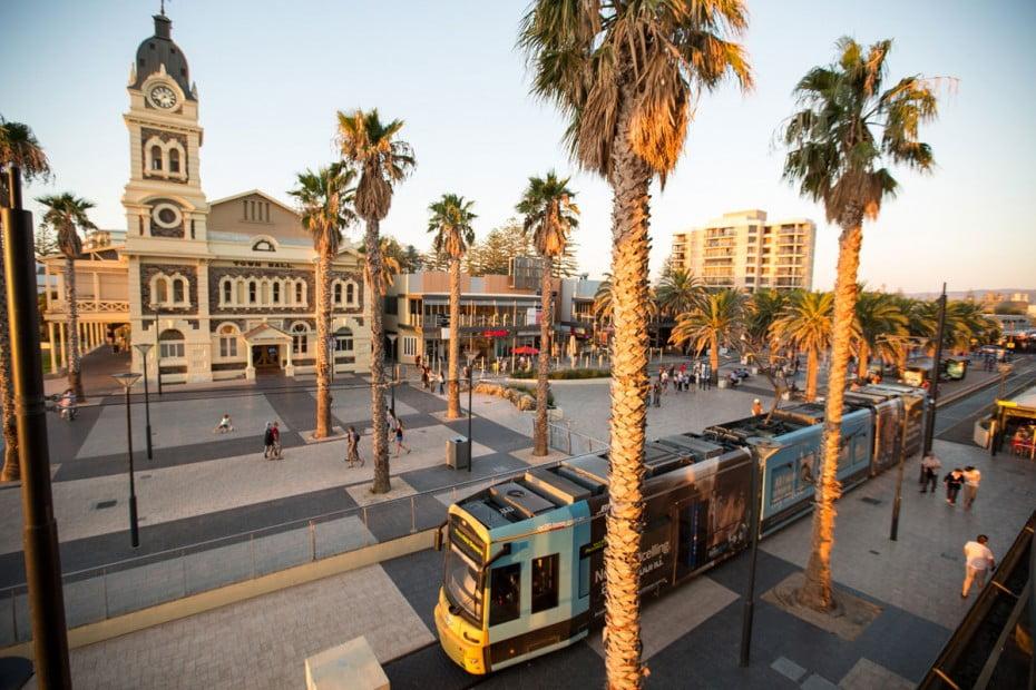 Glenelg tram, Adelaide, Australia.