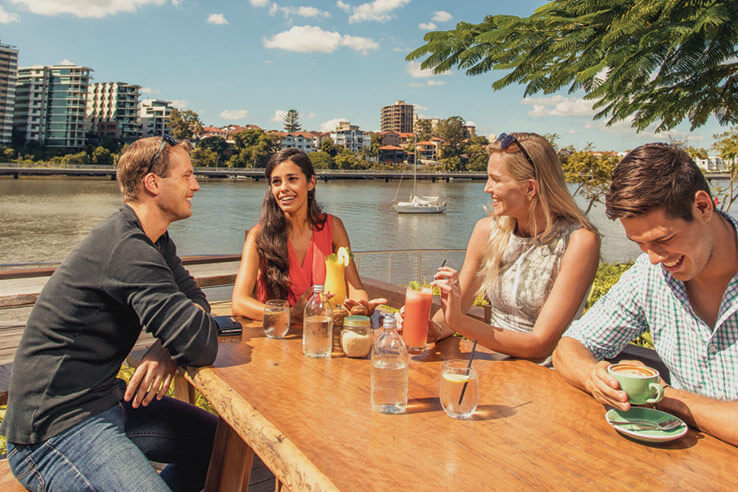 Drinking with friends, Brisbane, Australia.