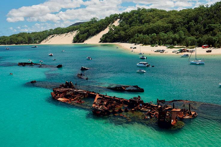 Moreton Island, Brisbane, Australia.