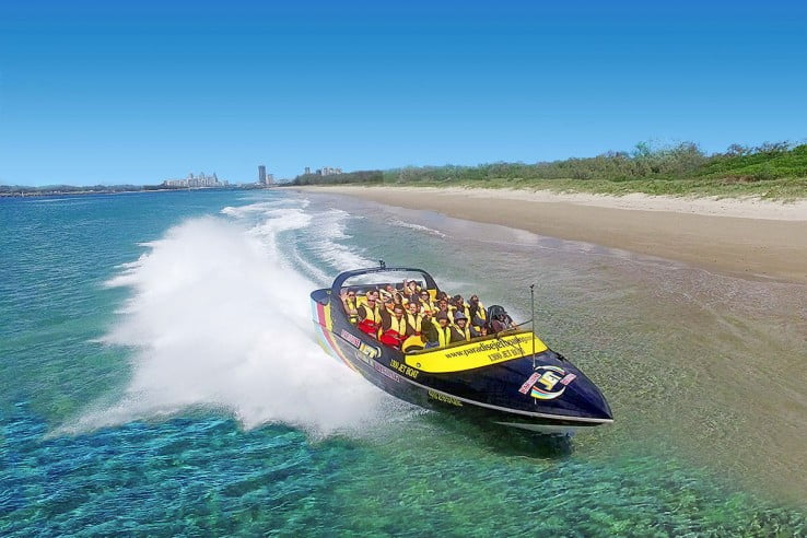 Jetboating on Broadwater, Australia.