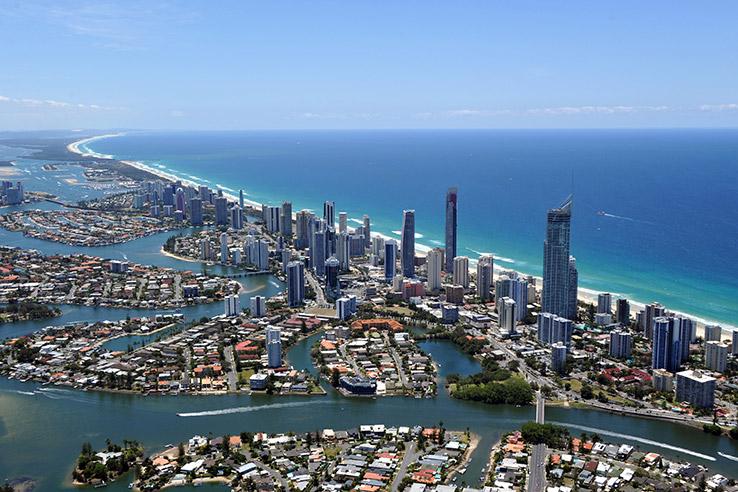 Chevron Island, Gold Coast, Australia.