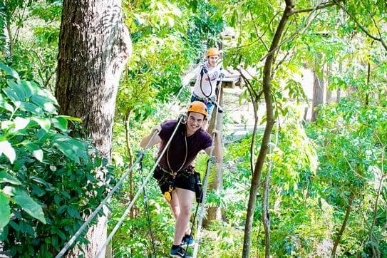 Guys at Tamborine Treetop Challenge, Sunshine Coast, Queensland, Australia.