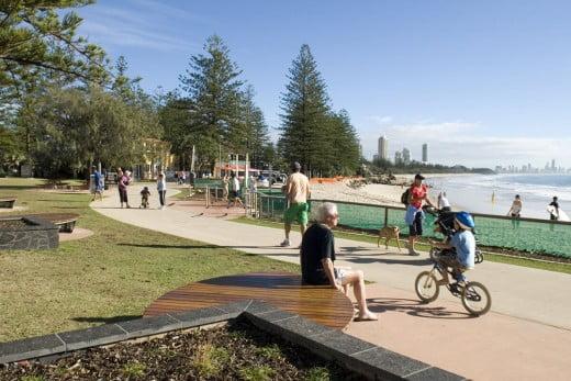 Oceanway walk, Gold Coast, Australia.