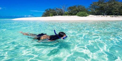 Girl Snorkelling at Heron Island, Queensland