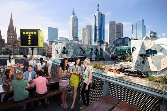 Transit Rooftop bar, Melbourne, Australia.