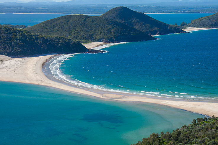 Fingal Island in Port Stephens, Australia.
