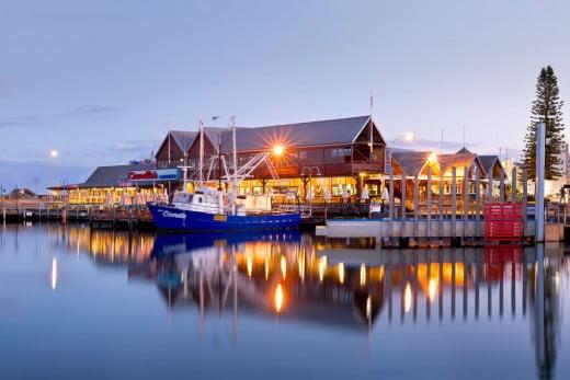 Fremantle harbour, Perth.
