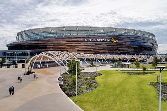 Optus Stadium, Perth, Australia.