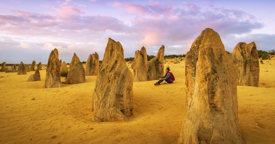 Pinnacles in Nambung National Park, Australia.