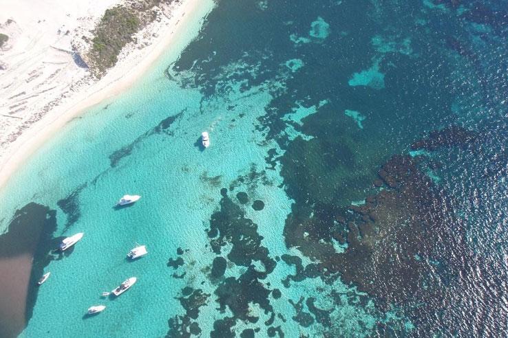 Rottnest Island aerial shot, Perth.