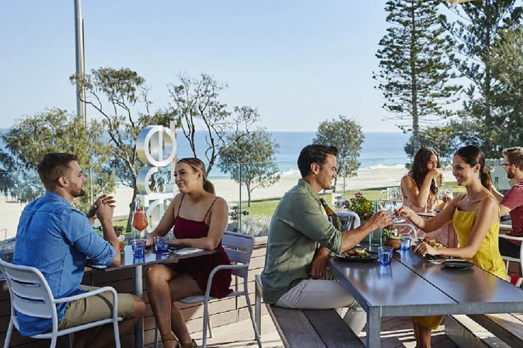 Seaside dining at City Beach, Perth