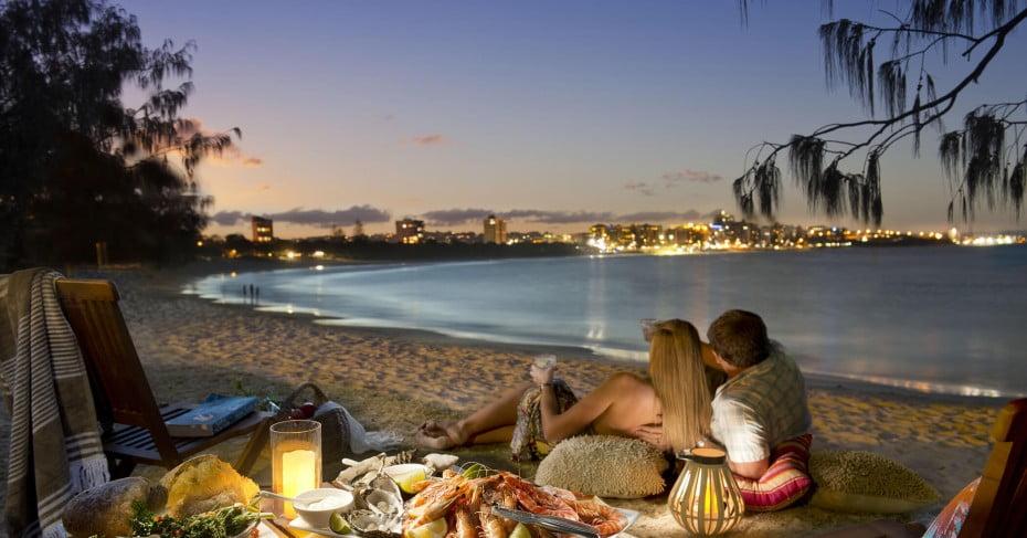 Picnic, Mooloolaba Spit, Sunshine Coast, Australia.