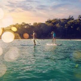 Paddleboarding, Sunshine Coast, Australia.