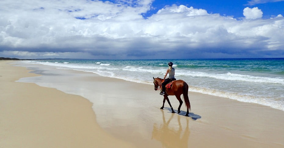 Rainbow Beach horse riding, Sunshine Coast, Australia.