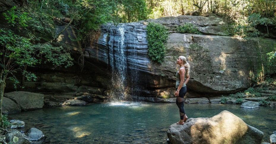 Serenity Falls, Buderim Forest Park, Sunshine Coast, Australia.