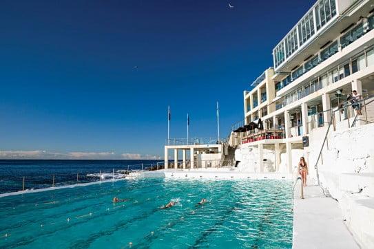 Bondi Icebergs Club swimmers, Bondi beach, Sydney, Australia.
