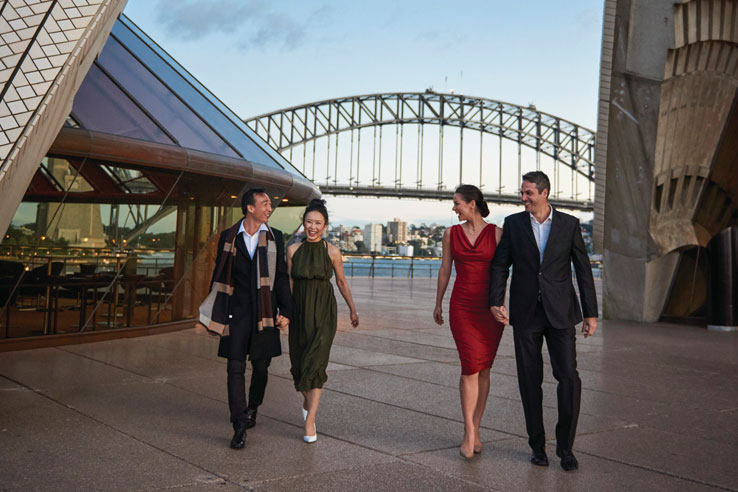Couples at the Sydney Opera House, Australia.