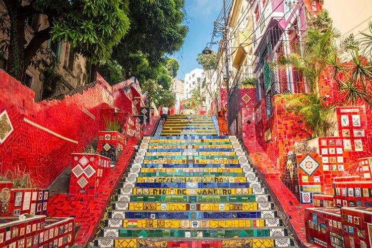 Escadaria Selaron Steps, Rio de Janeiro, Brazil.