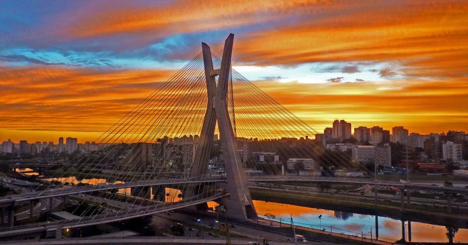 Ponte Estaiada, Sao Paulo, Brazil.