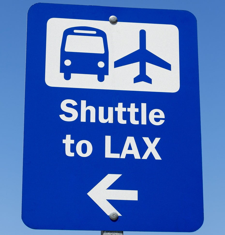 Shuttle to LAX sign, Los Angeles, California