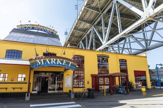 Kids market, Granville Island, Vancouver, Canada.