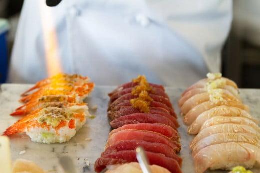 Sushi, Miku Restaurant, Vancouver, Canada.