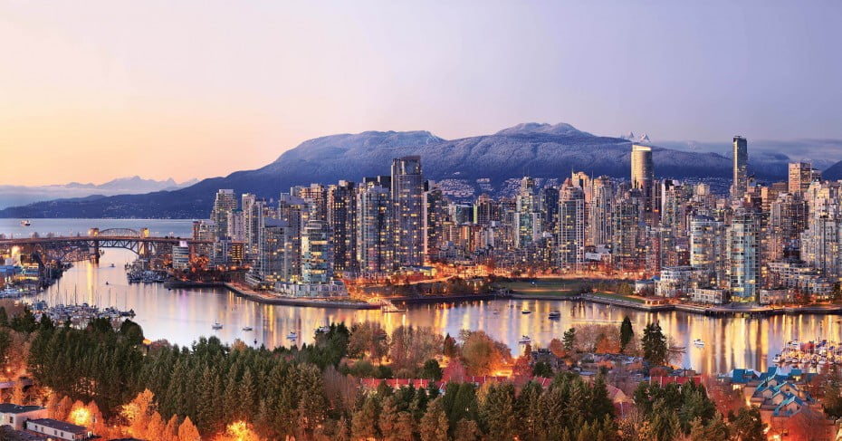 Panorama of Vancouver, Canada.