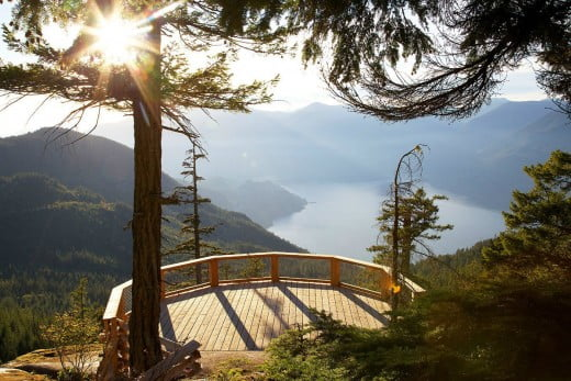 Spirit viewing deck, Sea to Sky Gondola, Vancouver, Canada.