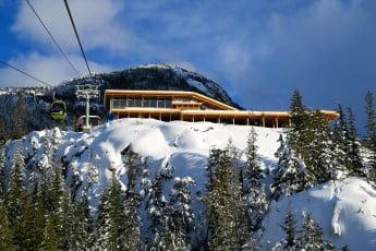 Winter Summit Lodge, Sea to Sky Gondola, Vancouver, Canada.