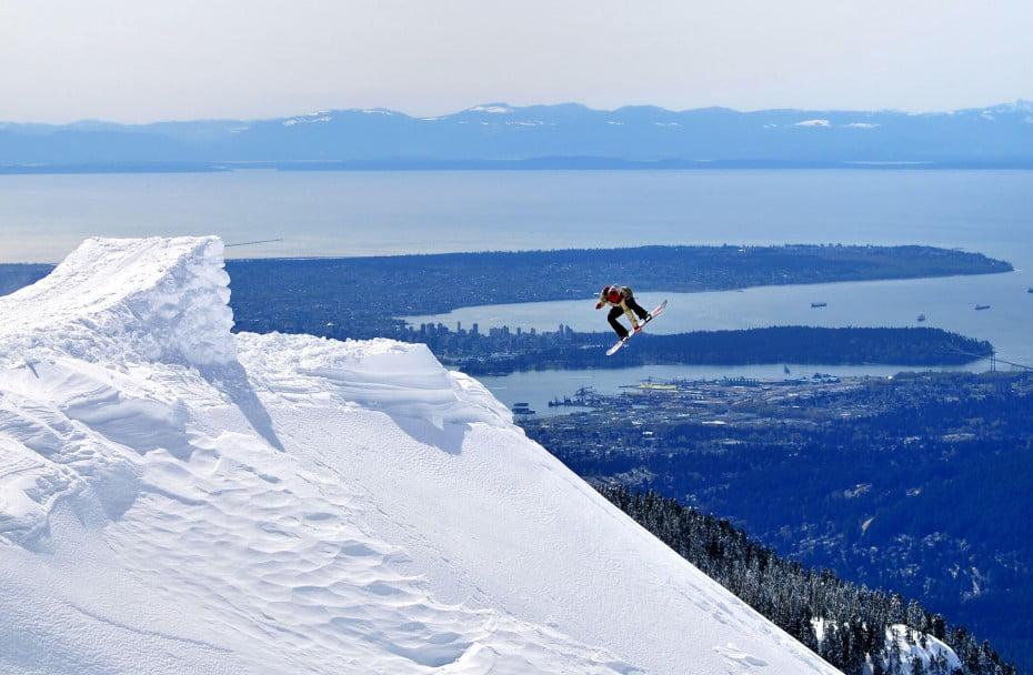 Snowboarder, Vancouver, Canada.