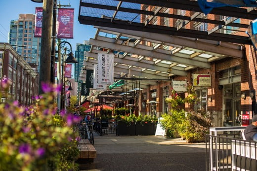 Yaletown, Vancouver, Canada.