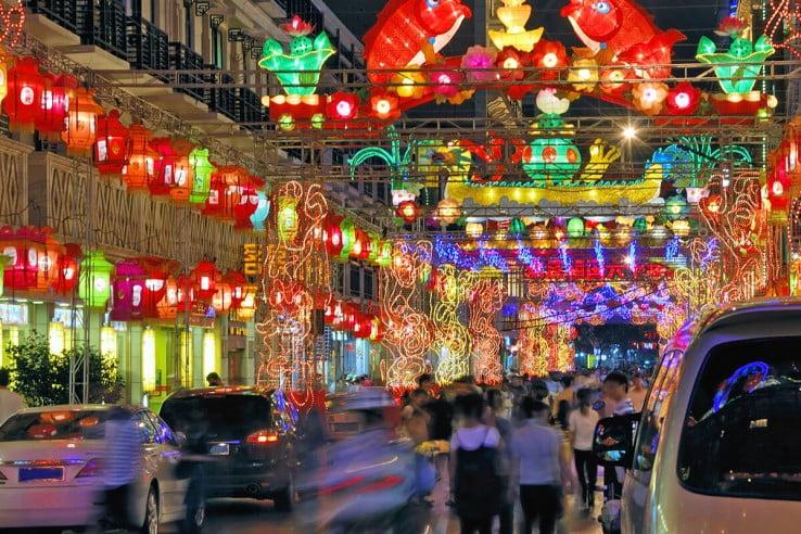 Nightlife, Shanghai, China.