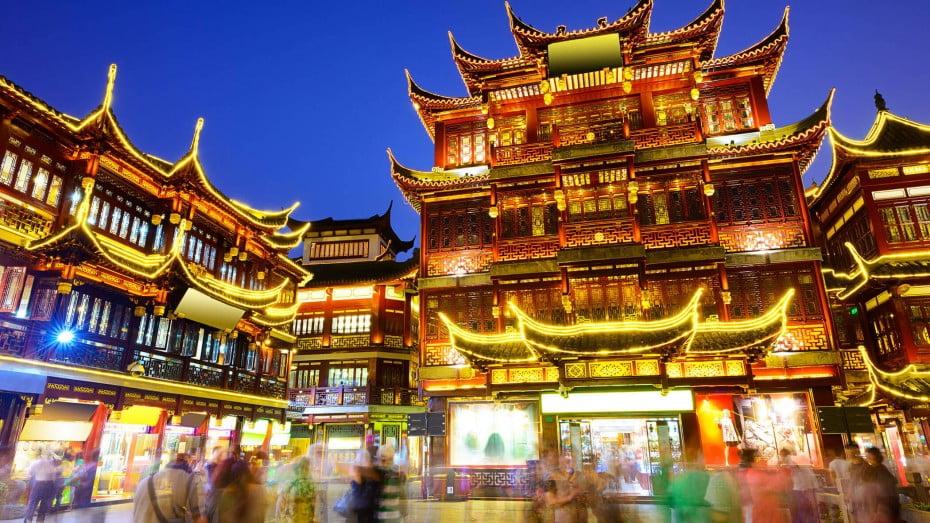 Pudong financial district, Shanghai, China.