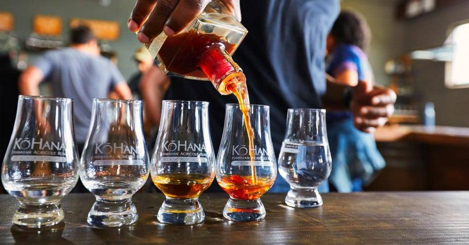 Rum tasting at the Kohana rum distillery