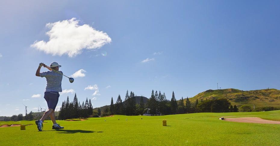 Golfing at the Turtle Bay Resort