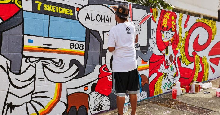 Kakaako street art, Hawaii