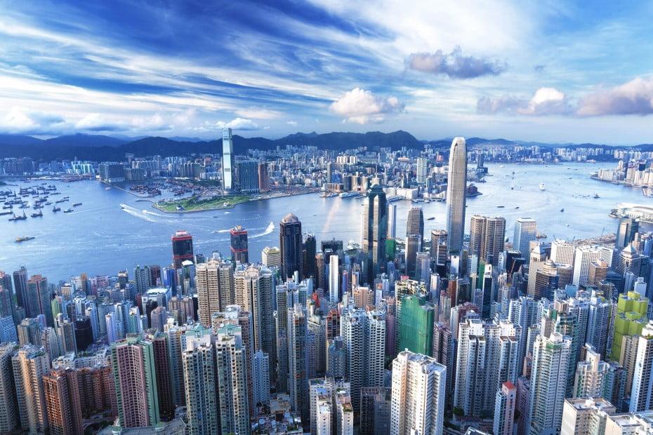 City view, Hong Kong.