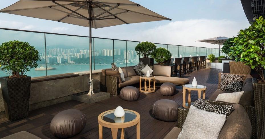 Rooftop bars at Sugar, Hong Kong.