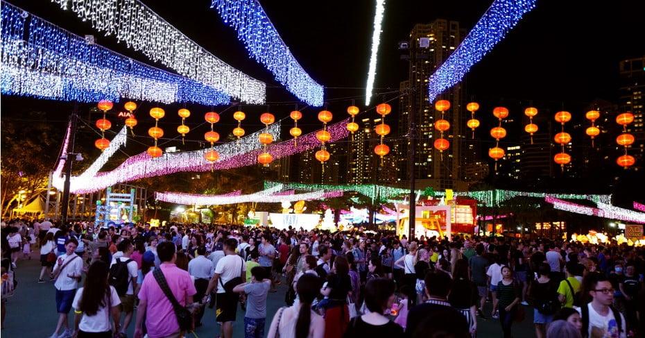 Victoria Park festival, Hong Kong.
