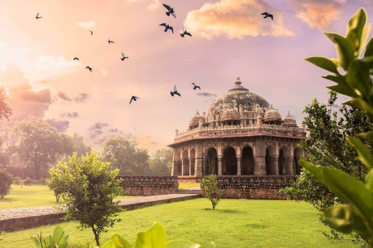 Tomb of Isa Khan at Humayun's Tomb, Delhi, India