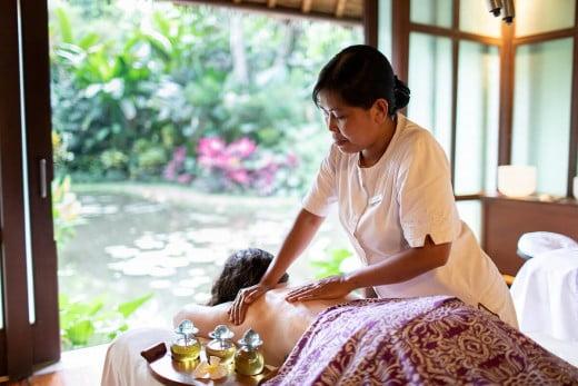 Massage session, Bali, Indonesia.